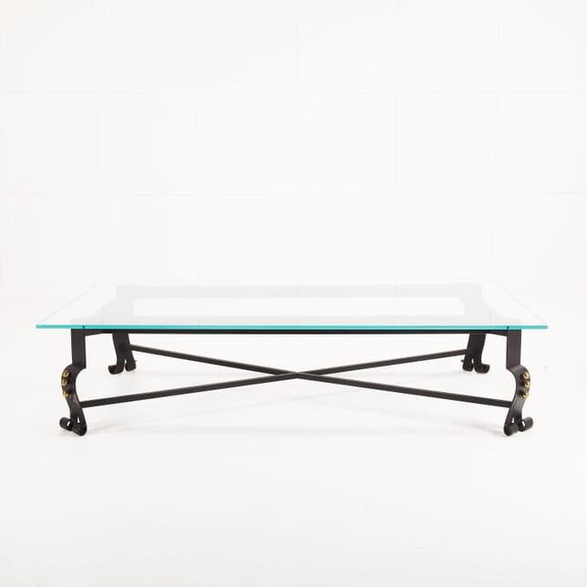 Large 1970s Italian Metal Coffee Table CT069913