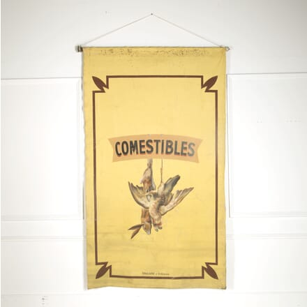 Large 19th Century Canvas Advertising Sign DA449256