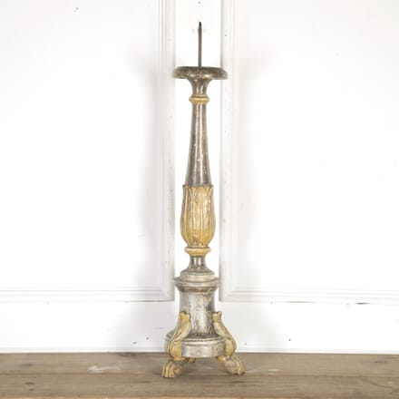 Large 19th Century Carved Pricket Candle Stick DA8114360
