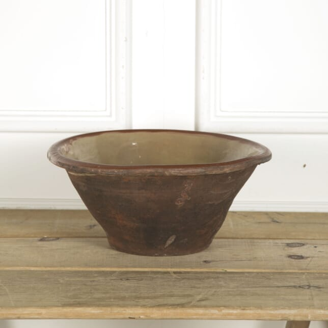 Large 19th Century French Dairy Bowl DA9910210