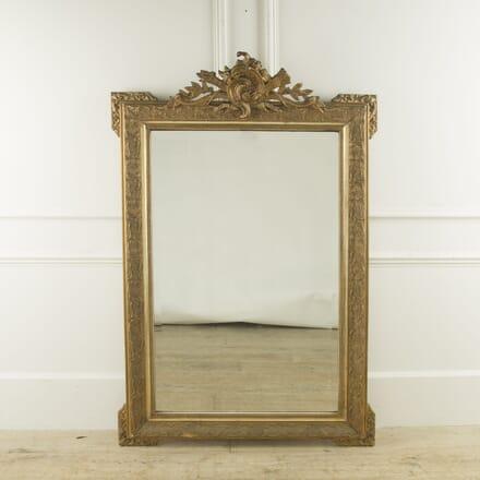 Large 19th Century French Louis XVI Style Gilt Mirror MI889954