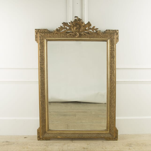 Large 19th Century French Louis XVI Style Gilt Mirror MI889954