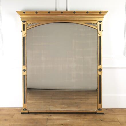 Large 19th Century Gilt Overmantle Mirror MI8216820