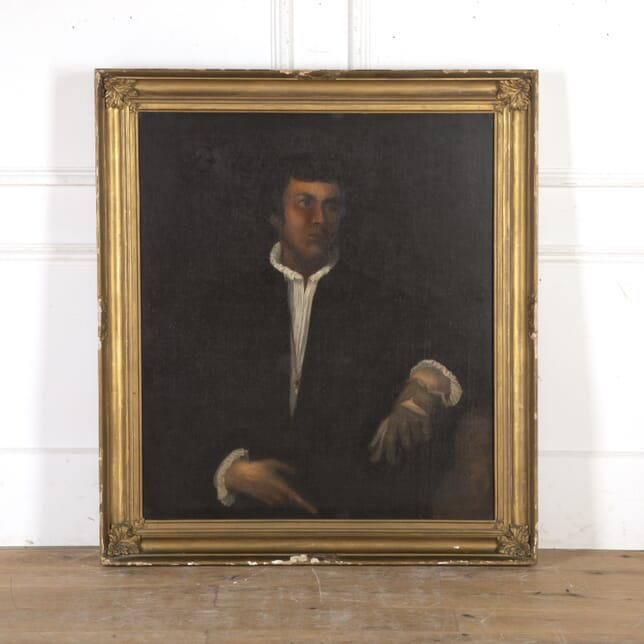 Large 19th Century Oil on Canvas Portrait WD8215913