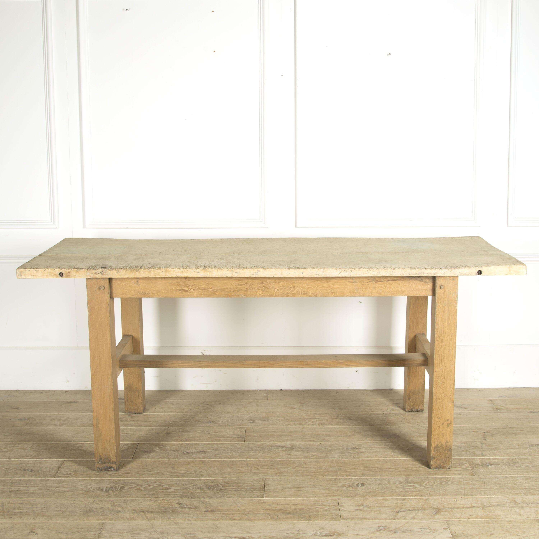 Large 20th Century Kitchen Prep Table Lorfords Antiques