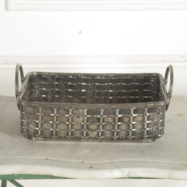 Large 20th Century Silver Plate Bread Basket DA1510477