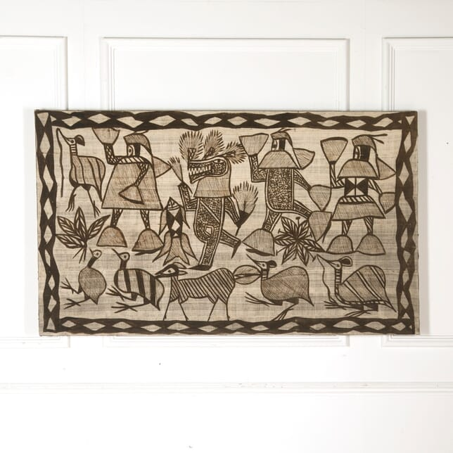 Large African Block Print Wall Hanging WD4510690