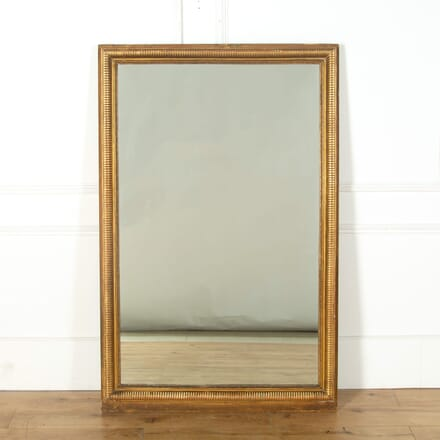 Large Antique French Gilt Mirror MI719129