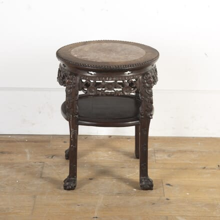 Large Chinese Hardwood and Marble Occasional Table TC5816525