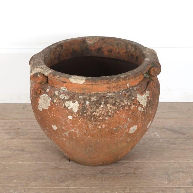 Large Compton Pottery Terracotta Scroll Pot GA0911494