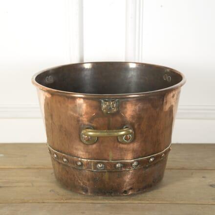 Large Copper and Brass Vat DA439496