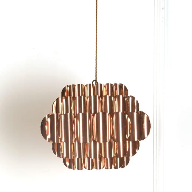 Large Copper Five Tier Copper Pendant Light LL539600
