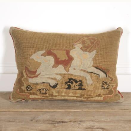 Large 'Crafty the Dog' Tapestry Cushion DA1516617