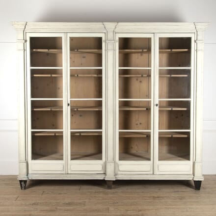Large 19th Century Painted Display Cabinet CU2512076
