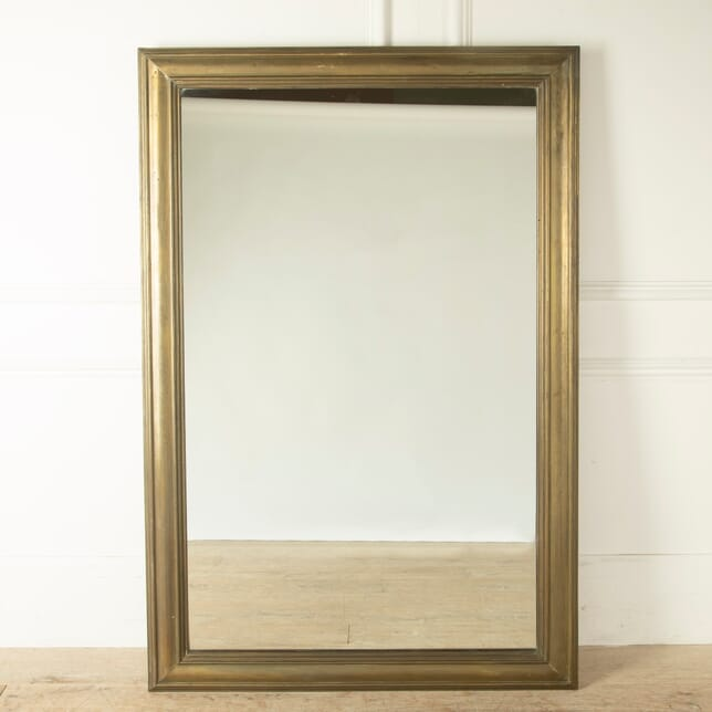 Large French Brass Bistro Mirror MI4510903