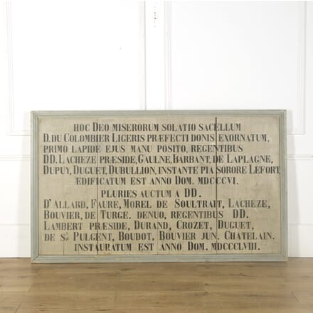 Large French Commemorative Plaque GA759480