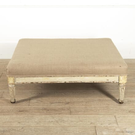 Large French Upholstered Footstool ST4516227