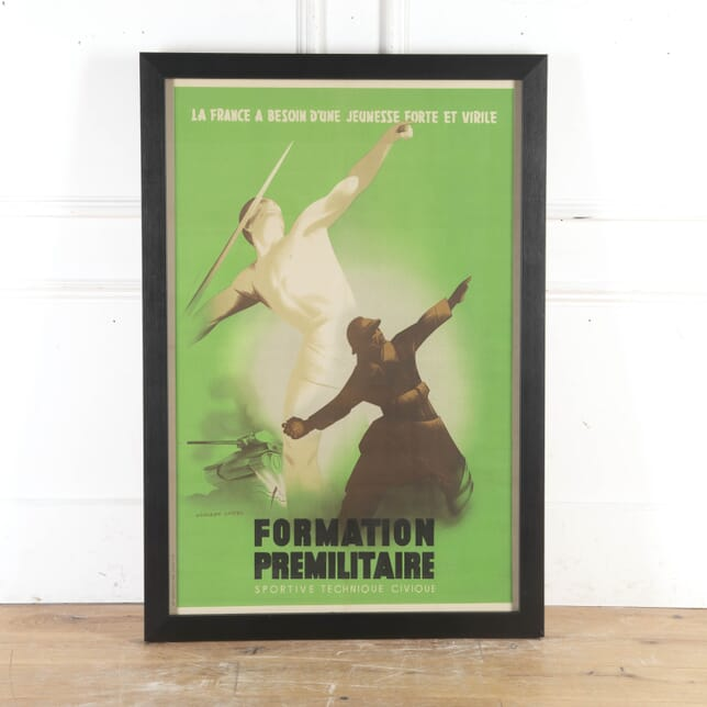 Large French World War Two Poster WD8715362
