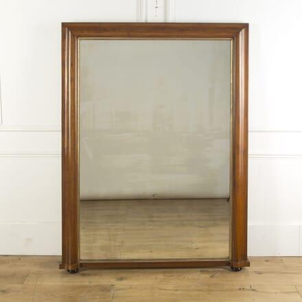 Large Golden Oak Overmantle Mirror MI4310205