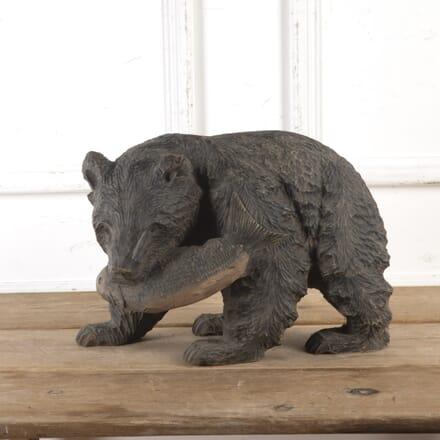 Large Hokkaido Carved Brown Bear DA8016658