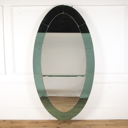 Italian Coloured Glass Oval Mirror MI5359303