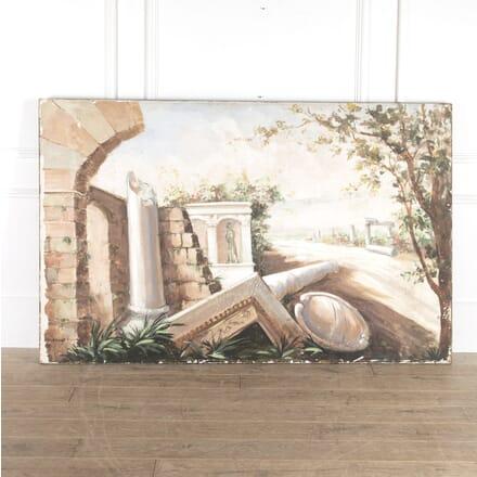 Large Italian Oil on Canvas WD7714255