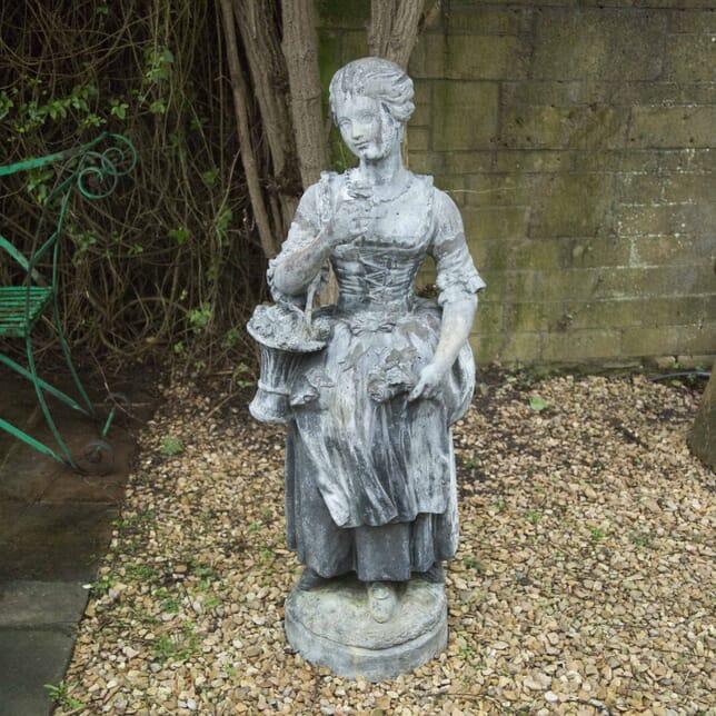 Large Lead Figure Depicting a Flower Girl GA339191