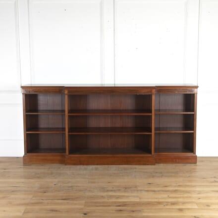 Large Mahogany Breakfront Bookcase BK8514572
