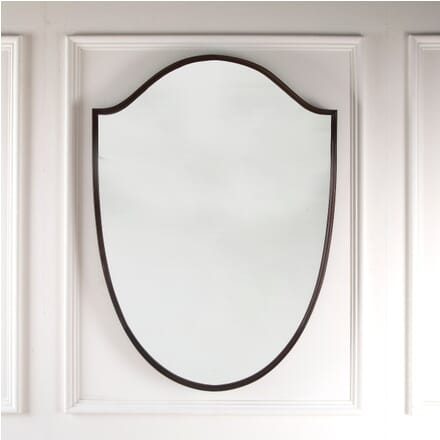 Large Mahogany Framed Shield Mirror MI3011447