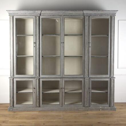 Large Painted and Glazed 19th Century Bookcase BK3610453