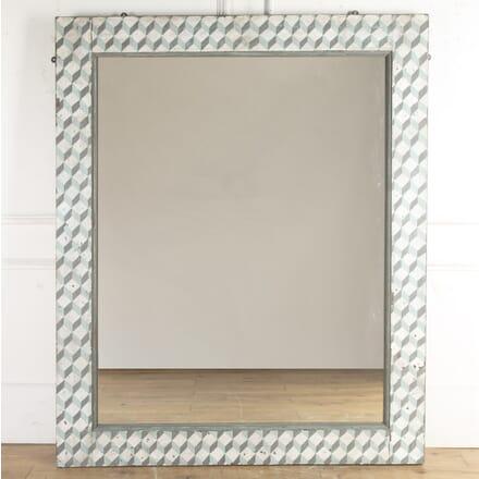 Large Geometric Painted Mirror MI3616415