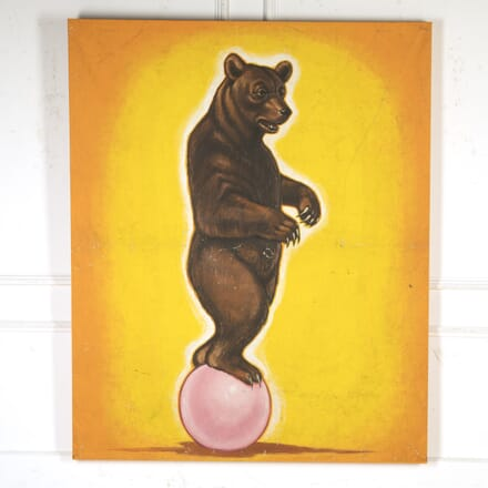 Russian Mid Century Painting of a Bear WD4316423