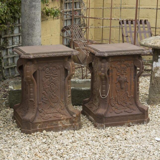 Large Pair of Cast Iron Pedestals GA429814