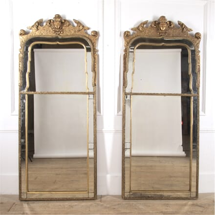 Pair of Large English Pier Mirrors MI4116398