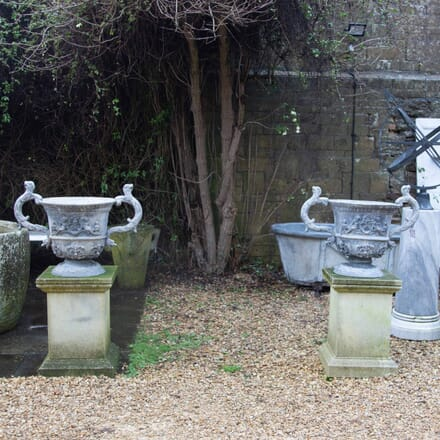 Large Pair of Lead Urns GA339114