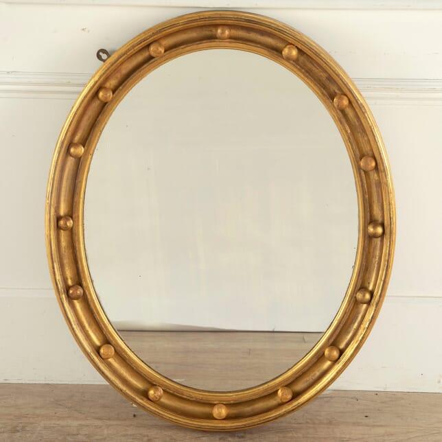 Regency Giltwood Oval Looking Glass MI0512258