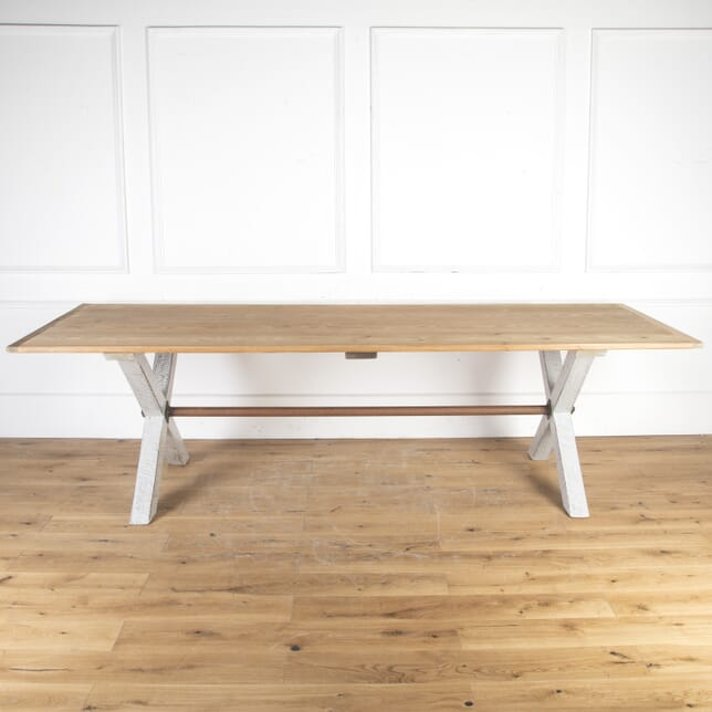 Large Pine Topped Farmhouse Table TD8513855