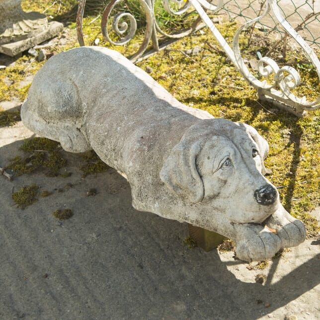 Large Reconstituted Stone Dog DA139990
