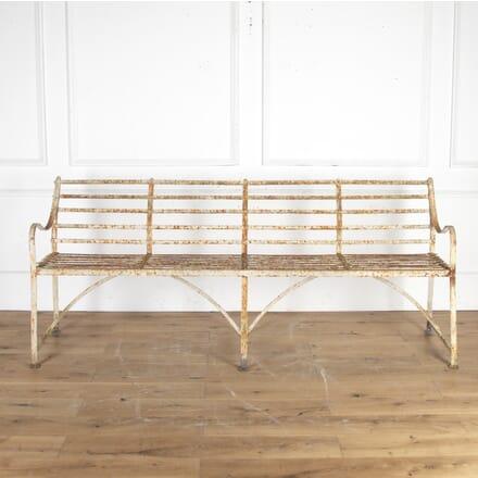 Large Regency Wrought-Iron Garden Bench GA8213806