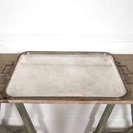 Large Neoclassical Silver Plate Tray DA1516589