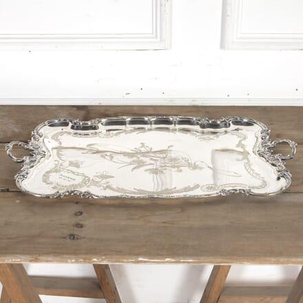 Large Silver-Plate Souvenir Engraved Tray DA5815452