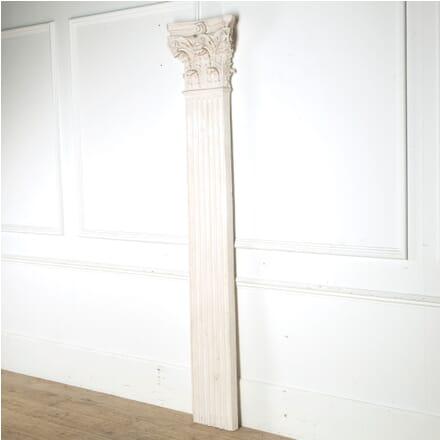 Large Single Plaster Pilaster with Corinthian Capital GA6810358
