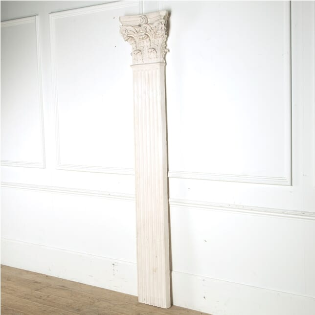 Large Single Plaster Pilaster with Corinthian Capital GA6810358
