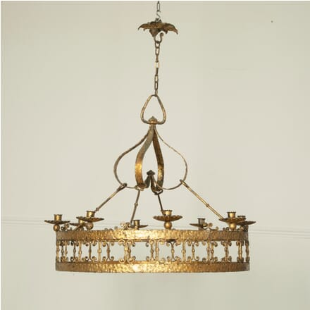 Large Spanish Iron Hanging Light LC1511574