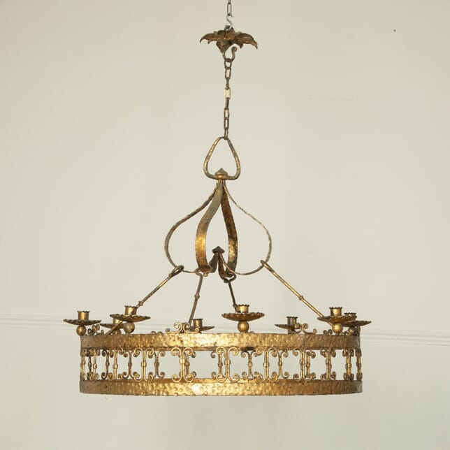Large Spanish Iron Hanging Light LC1511574