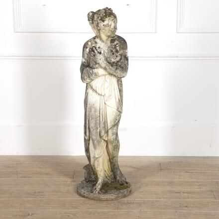 Large Stone Grecian Female Garden Statue GA8815619