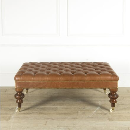 Large Victorian Leather Ottoman SB889534