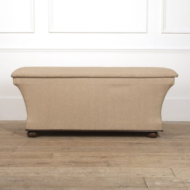 Large Victorian Upholstered Ottoman ST0516717