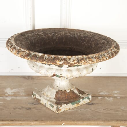 Large Victorian White Cast Iron Tazza Urn GA8113824