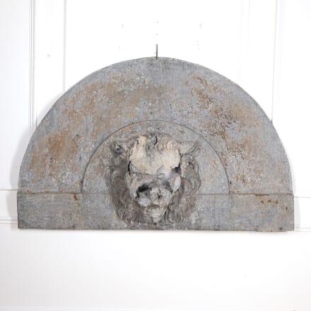 Large Zinc Lion's Head Panel GA2915898